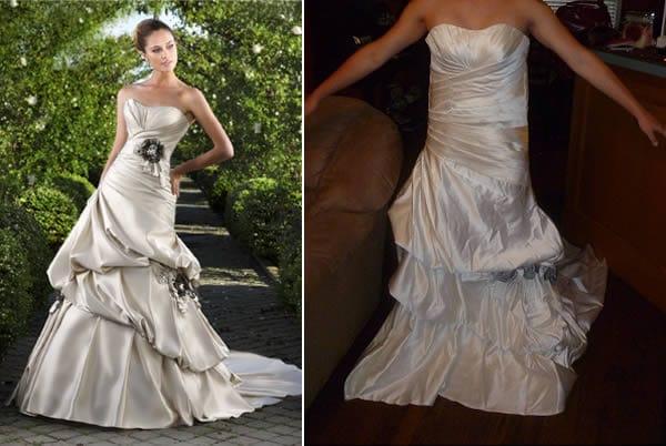 fake ruffle dress real