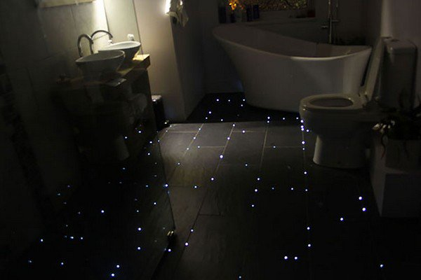 fiber optic floor finished