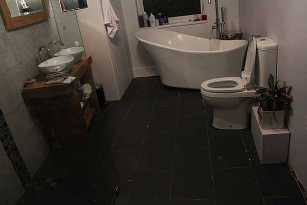 This Guy Made His Bathroom Floor Into An Awesome Starry Sky