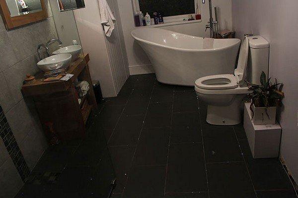 floor bathroom done