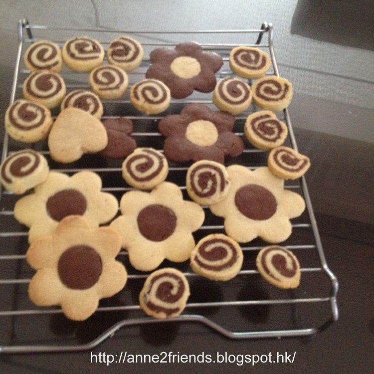 flower spiral cookies