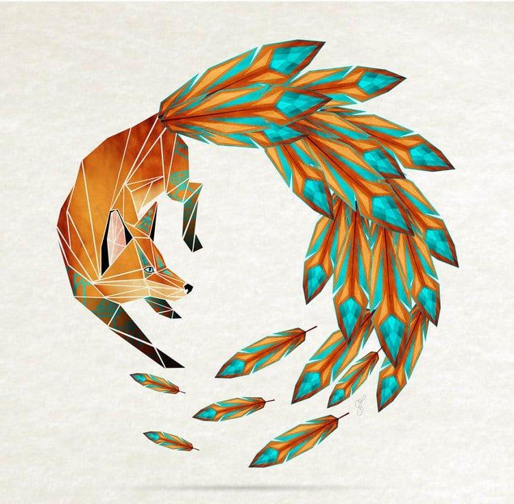 Geometric Animal Art This Artist Creates Awesome Tangram inspired