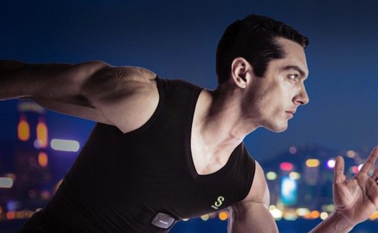 man running in sensoria clothes