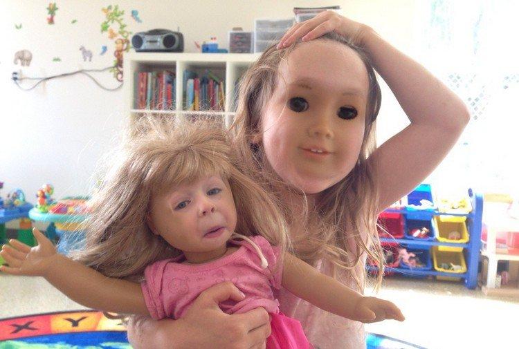 girl doll face swap