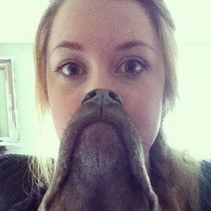 girl goatee dog beard