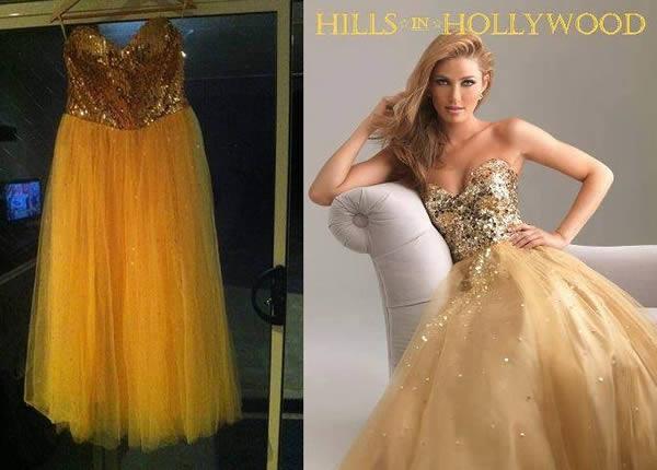 gold yellow fake dress