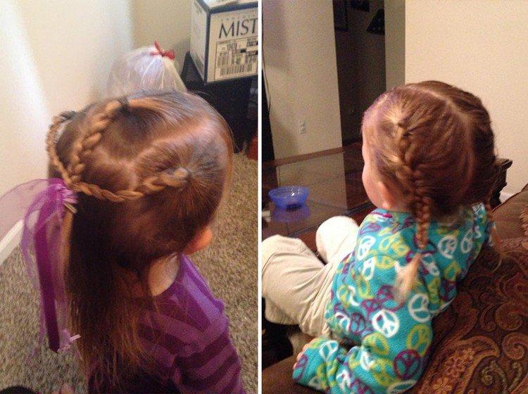 hair braids ribbon
