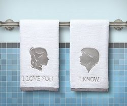 han and leia towels