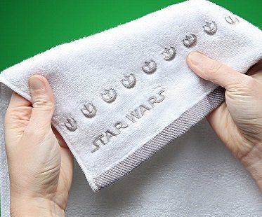han and leia towels star wars