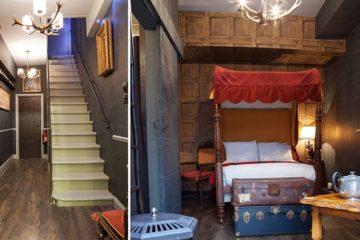 harry potter themed hotel room