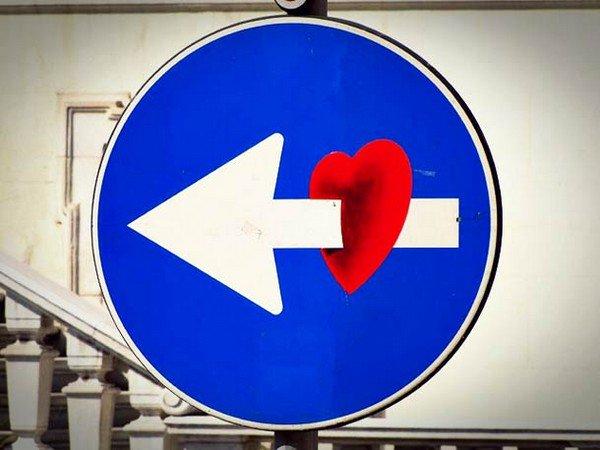 heart arrow sign