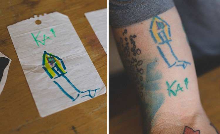 house drawing tattoo