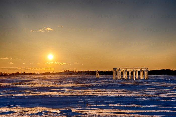 ice-henge-sunset