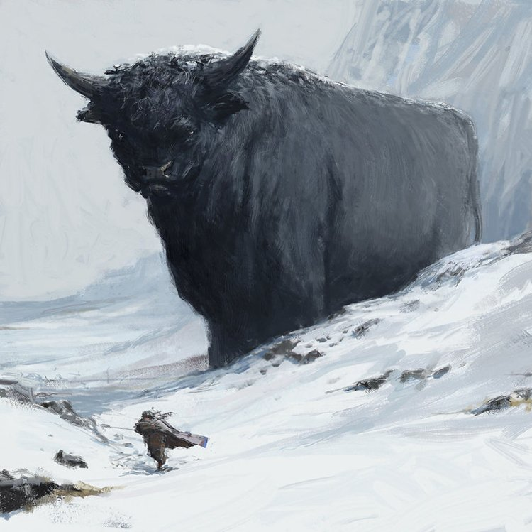 iceland-mythic-creatures-paintings-asgeir-jon-asgeirsson-bull