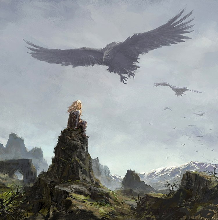 iceland-mythic-creatures-paintings-asgeir-jon-asgeirsson-vulture