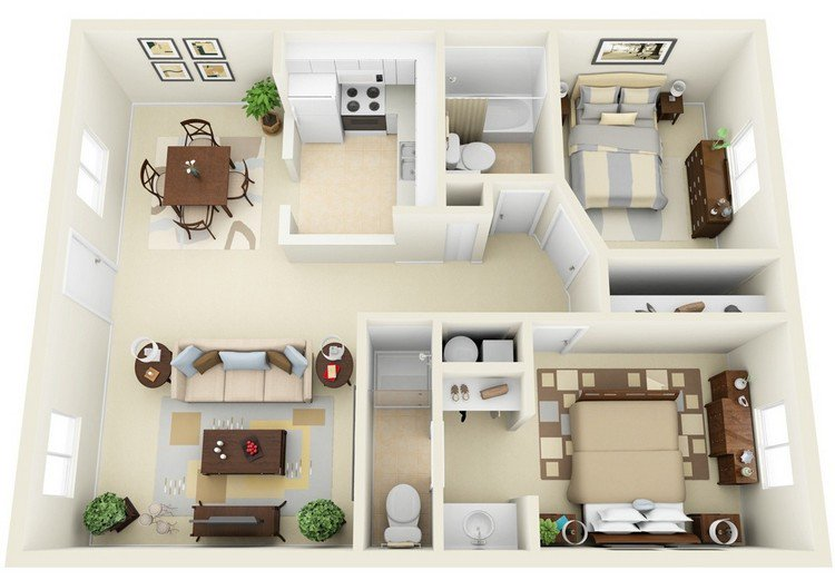incore residential neutral two bed