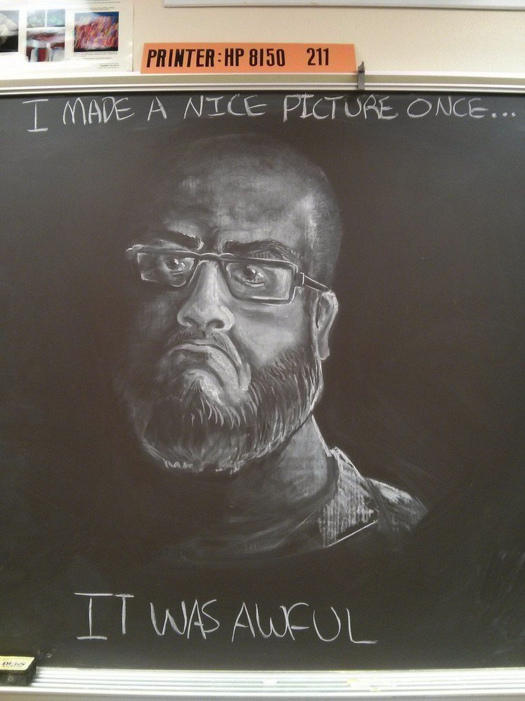 it was awful chalked picture
