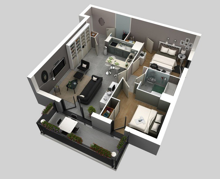 Jermey Gamelin Masculine Two Bedroom Interior