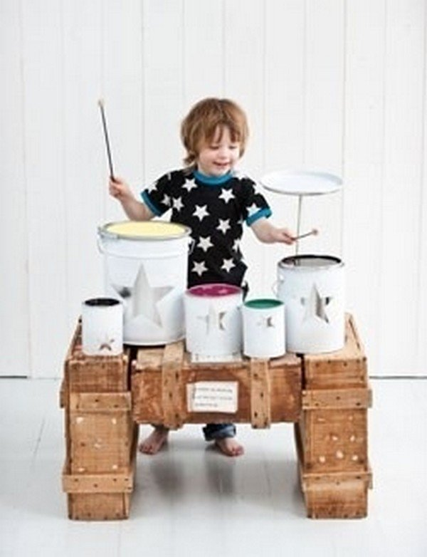 kid drumkit homemade
