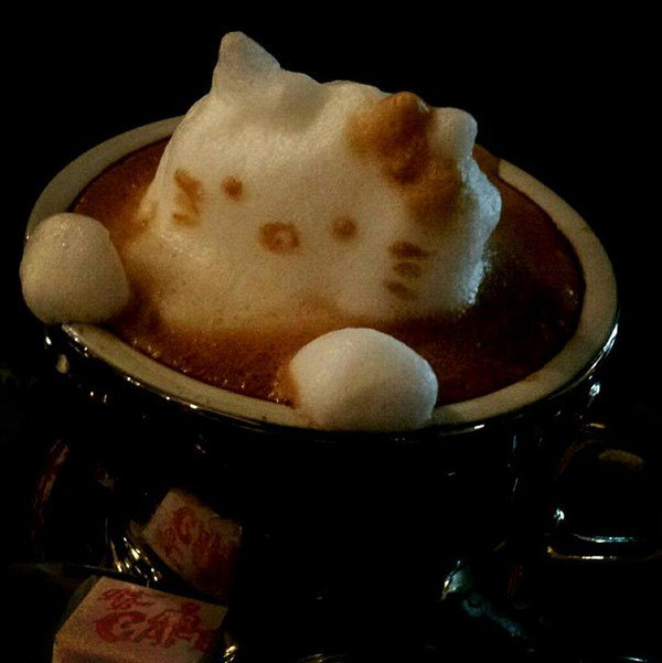 latte hello kitty