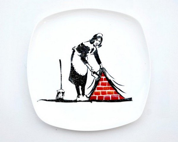 maid brushing soot