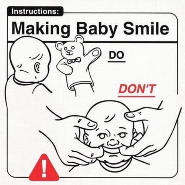 making baby smile