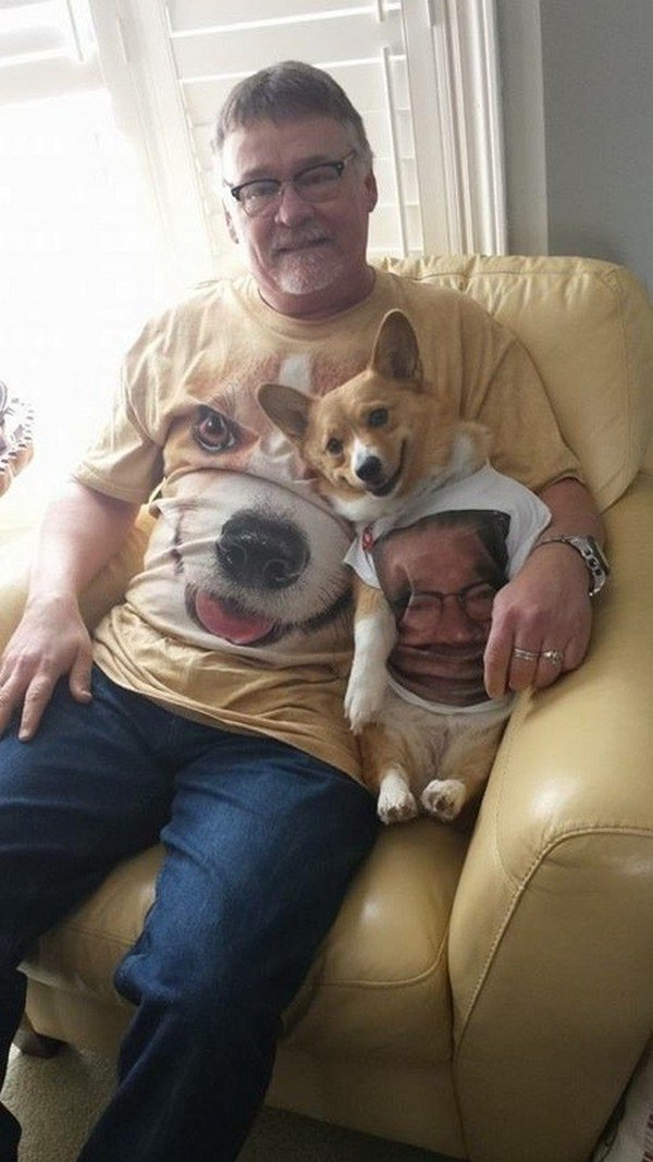 man dog t shirts