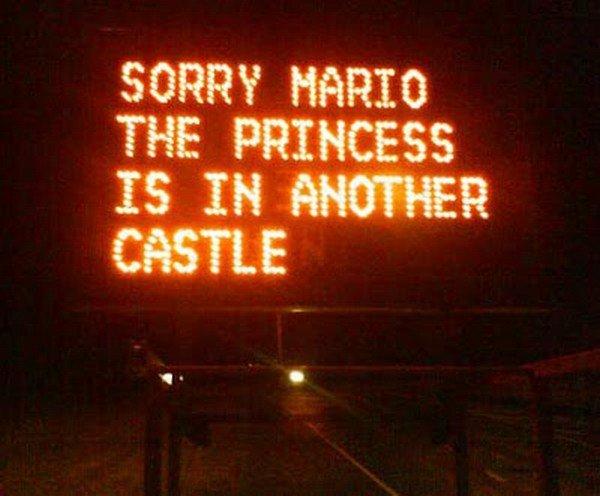 mario princess sign