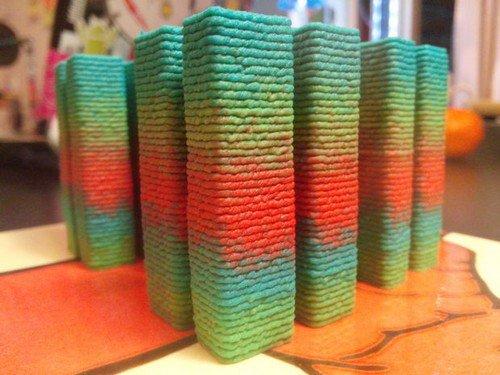 multi colored hummus