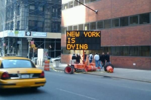 ny is dying sign