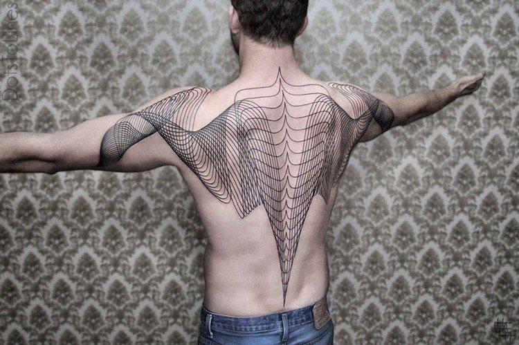 ornate back shoulder tattoo