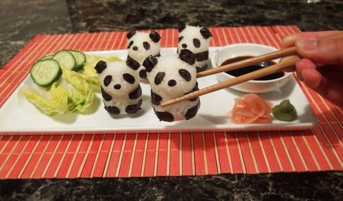 pandas sushi plate