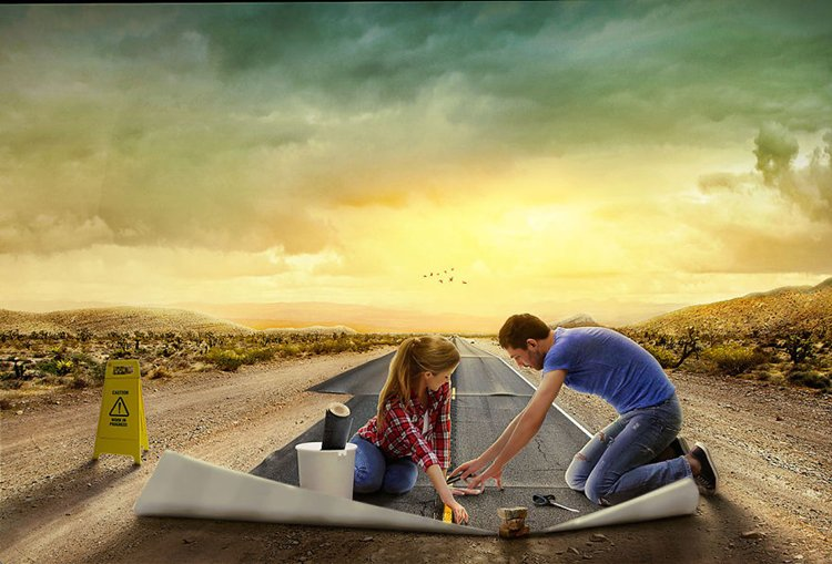 photo-manipulation-laying-road