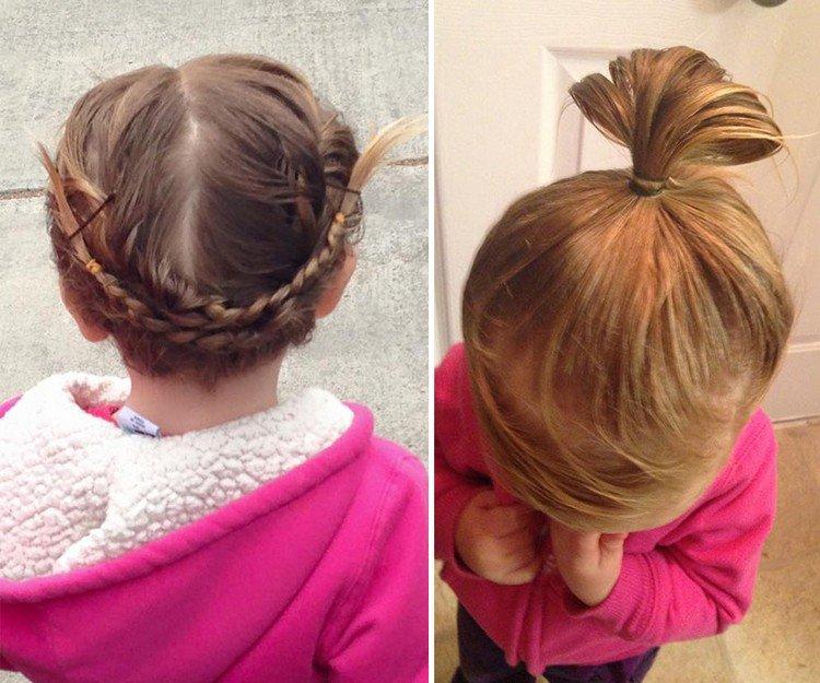 pink top hair braids