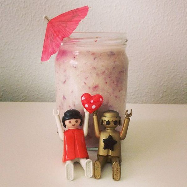 playmobil figures heart smoothie