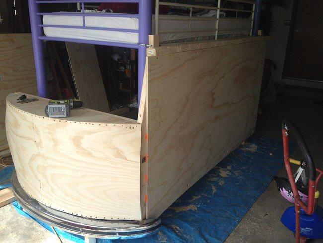 Plywood Panels Camper Bed