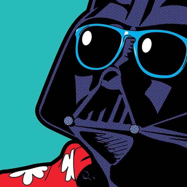 pop-art-illustrations-secret-lives-super-heros-greg-guillemin-darth-vader