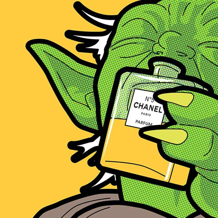pop-art-illustrations-secret-lives-super-heros-greg-guillemin-yoda