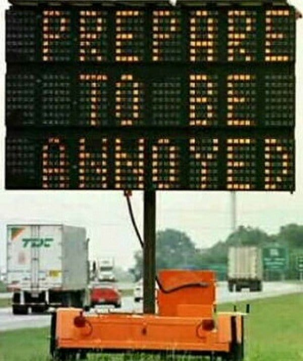 prepare to be annoyed sign