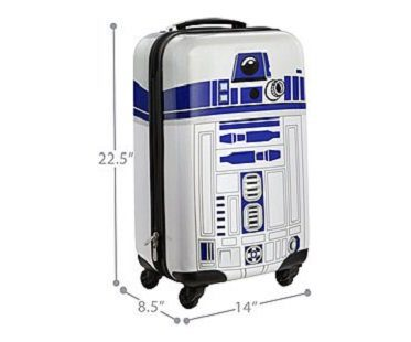r2-d2 carry on luggage measurements