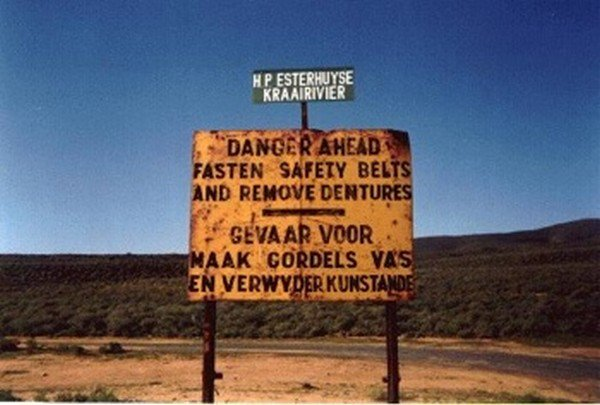 remove dentures sign