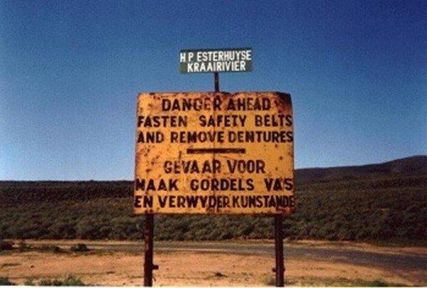 remove dentures sign