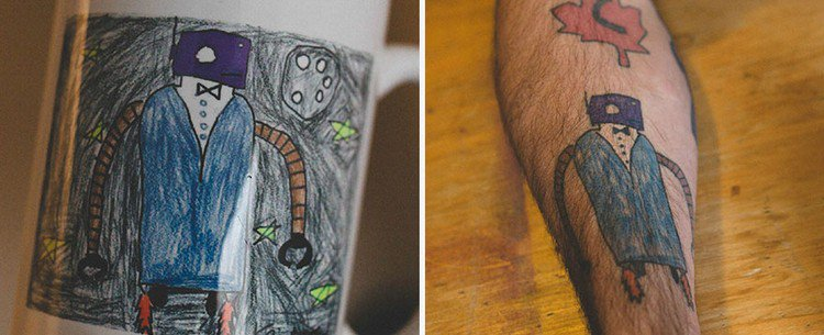 robot drawing tattoo