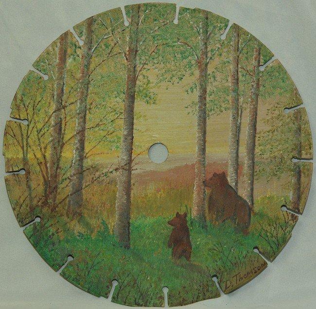Artist Daniel Thomson Paints Stunning Landscapes On Saw Blades