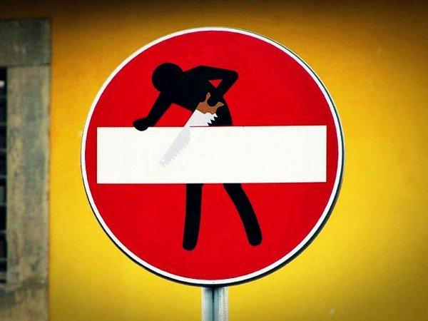 sawing man sign