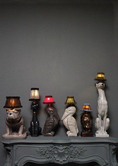 set animal lamps