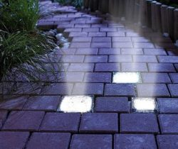 solar powered brick lights