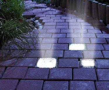 Solar Powered Brick Lights