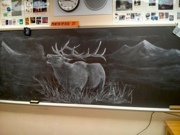 stag chalked picture