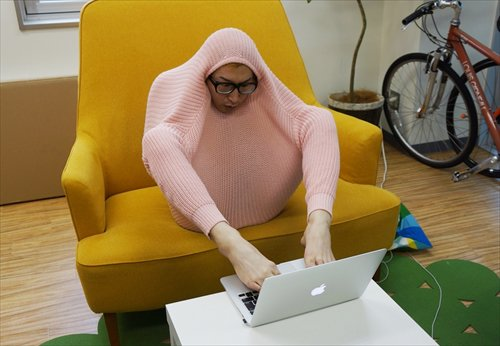 sweater guy macbook